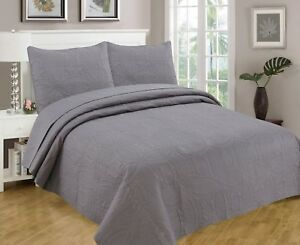 Bedspread-Coverlet-3-Pcs-Set-Oversize-Queen-or-King-Size-8-Colors