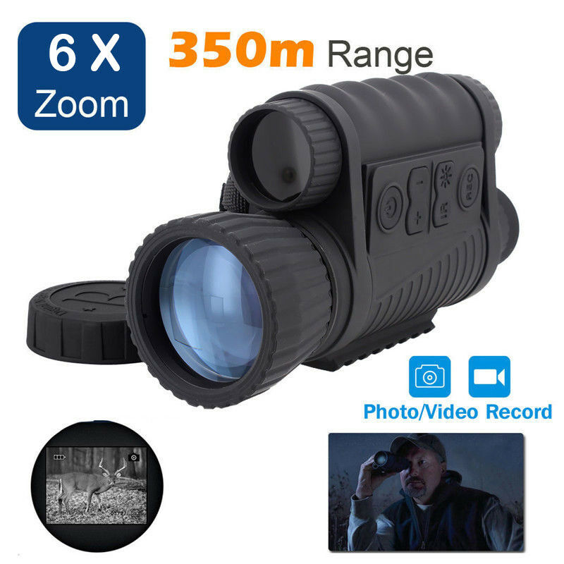 6X50 Digital Infrared Night Vision Monocular 350m 6x Zoom Waterproof Photo Video