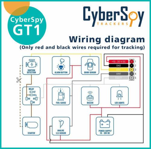 Amplificador de sonidos CyberSpy GPS Rastreador Inmovilizador Para Coche 12V 30Amp 5 Pin Relé de vehículo