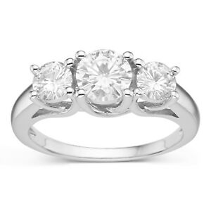 'Charles & Colvard Round Cut 6.0mm Moissanite Engagement Ring, 1.46cttw DEW' from the web at 'https://i.ebayimg.com/images/g/5lQAAOSwsE1aFbpx/s-l300.jpg'
