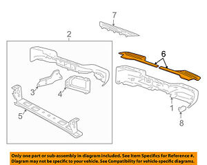 Cadillac GM OEM Rear Bumper-Step Pad Protector Guard Sill Plate 22960927