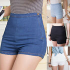 Women Girl Hot Fashion S-XL High Waist Denim Jeans Short Pants Shorts Causal