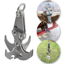 Stainless Steel Folding Gravity Grappling Hook Climbing Claw Survival Carabiner