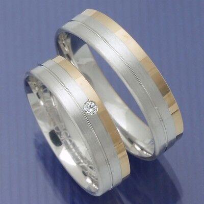 Obligatorisch Günstige Trauringe Eheringe Hochzeitsringe Aus Weissgold Und Rotgold Pa219485