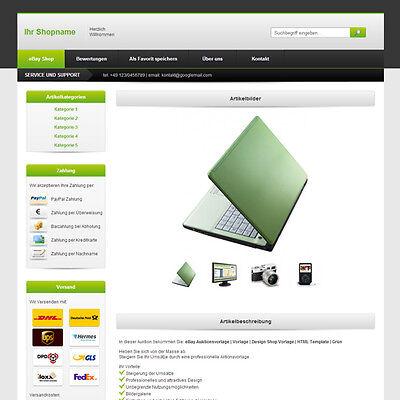 eBay Auktionsvorlage | Vorlage | Design Shop Vorlage | HTML Template | Grün