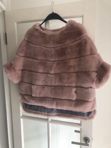 Mantello Poncho Di Jersey Cappotto In Con Pastello Coniglio Rosa vTg5WUq