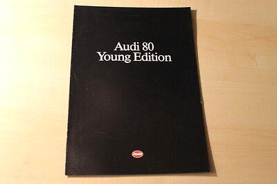 00380) Audi 80 Young Edition Prospekt 02/1990 QualitäTswaren