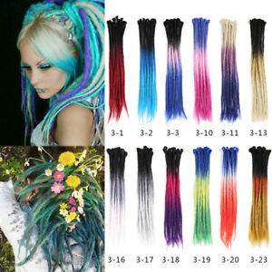 24-034-Ombre-Dreadlocks-Hair-Extensions-Synthetic-Crochet-Braided-Single-End-Dreads