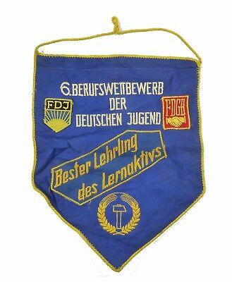 DDR Stoffabzeichen FDJ Bester Lehrling des Lern. Berufswettbewerb FDGB