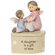 Daughter Angel Resin Trinket Box Gift With Scripts Boxed 65564