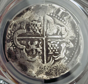 1621-Bolivia-Philip-III-Spanish-Colonial-Silver-8-Reales-Cob-Coin-PCGS-VF20