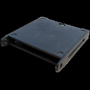 471mm 1 HE PU beschichtet GT Case Tourflex 19 Zoll Modulrack