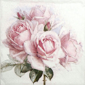 for Party Decoupage Georgia roses 4x Paper Napkins