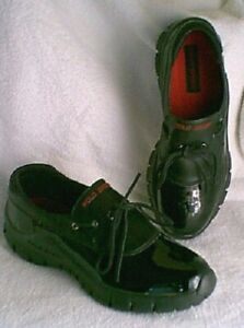 POLO-SPORT-Black-Leather-Slip-on-Lightweight-Shoes-Womens-size-4