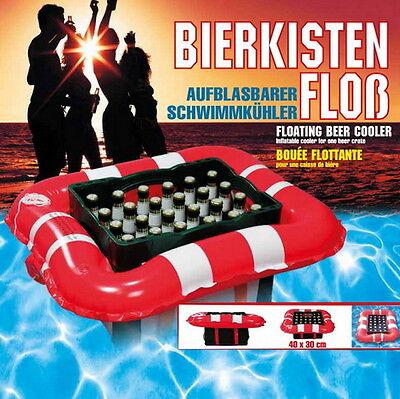 Aufblasbares Bierkisten-Floß, Aufblas-Bierkasten-Schwimmkühler, Bier-Kisten-Floß