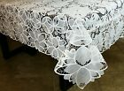 Elegantlinen Full Cutwork Embroidered Embroidery Tablecloth 72x90