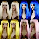 "23"" Long Straight Cosplay Fashion Anime Wig Party Hair Heat Resistant Full Wigs"