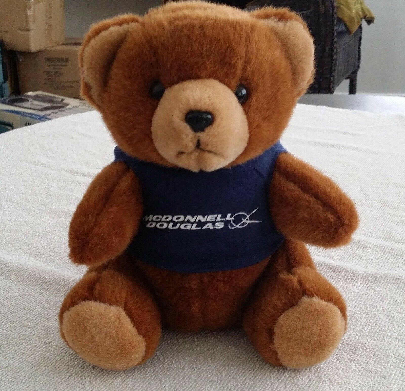 Vintage McDonnell Douglas Aerospace Teddy Bear 9.5 inches Brown