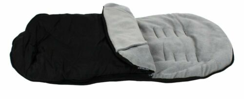 Luxuary Black And Grey Footmuff Fits Red Kite Push Me Urban Jogger