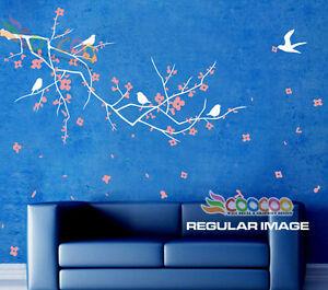 Wall-Decor-Decal-Sticker-Removable-Vinyl-Nursery-Tree-Plum-Blossom-Flower-A-65