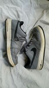 ebba6025d1a NIKE AIR FORCE 1 488298-086 Cool Grey Black-White MEN S size 11.5 ...