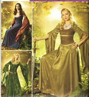 Pattern Medieval Dress 10-18 & 20-26 Costume S4940 Renaissance Sewing