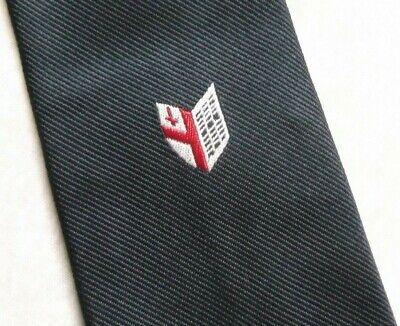 Vintage Cravatta Da Uomo Cravatta Scudo Crested Club Associazione College 1980s 1990s-mostra Il Titolo Originale Una Gamma Completa Di Specifiche