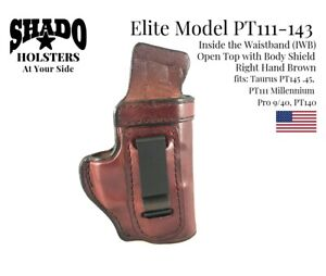 SHADO Leather Holster USA Elite Model PT111-143 Right Hand Brown IWB Taurus
