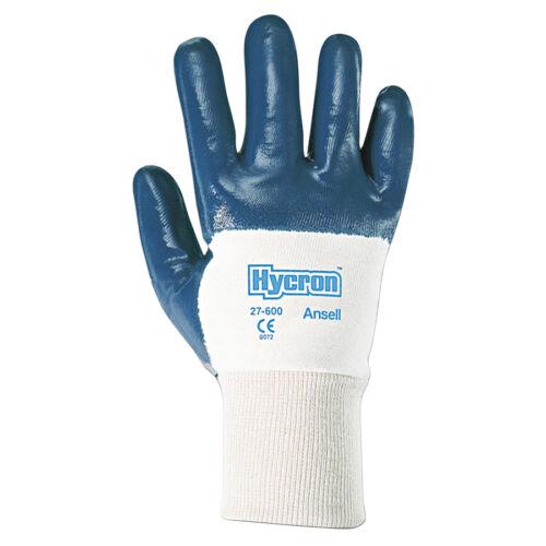 Ansell Hycron 27-600 Palm 3//4 Coated Knitwrist Glove