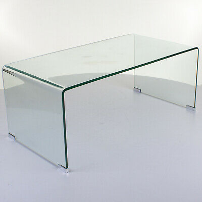 Large Curved Gl Coffee Table Bent
