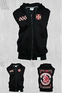 666 Choppers brand Hoody Sleeveless Zip New Coast West Chapel tFqxwavt