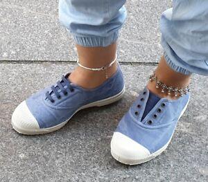 Natural World Schuhe Blau 102E 690 celest enz Bio-Baumwolle Wechselfußbett
