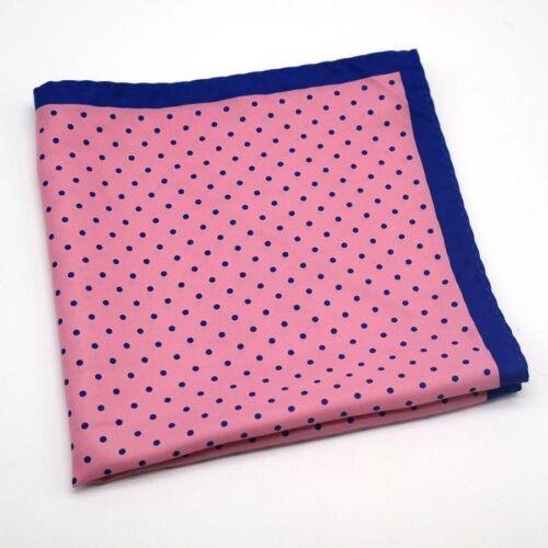 Large Multi Color 32CM Silk man Floral handkerchief  Pocket Square