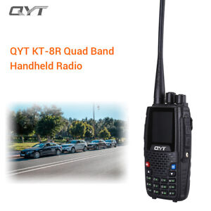 QYT-KT8R-Portable-Quad-Band-VHF-UHF-Two-Way-Radio-Amateur-FM-Transceiver-2000mAh