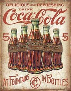 COKE 5 Bottles Retro       Vintage Style Metal Signs Man Cave Garage Decor 69
