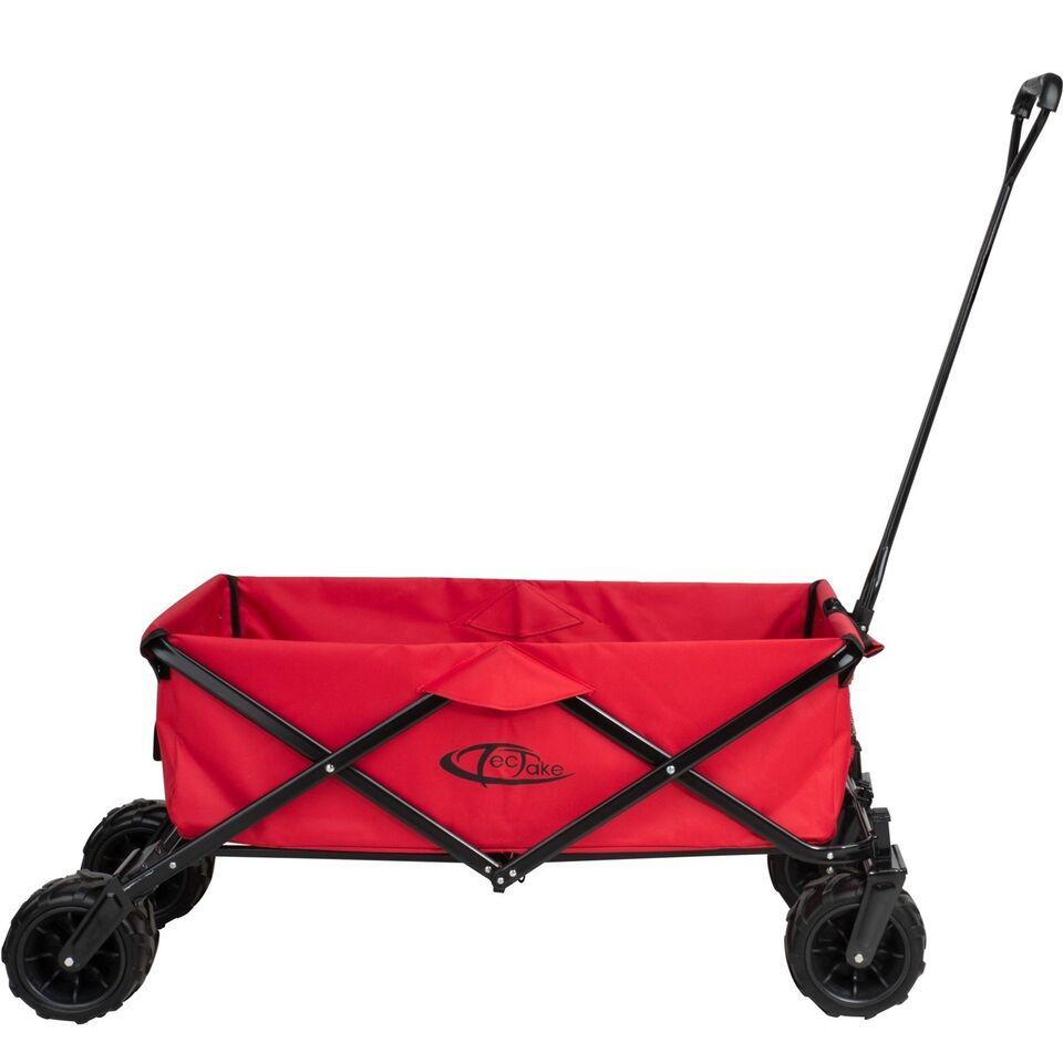 Foldbar Trækvogn Heidrun rød