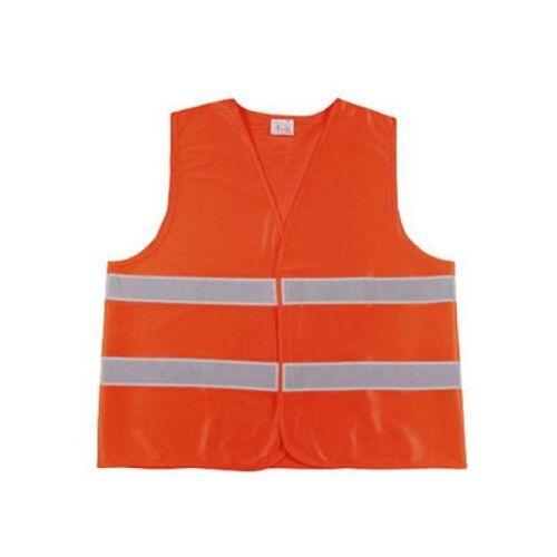 100 x KFZ Auto Warnweste Warnwesten Weste Sicherheitswarnweste EN471 orange