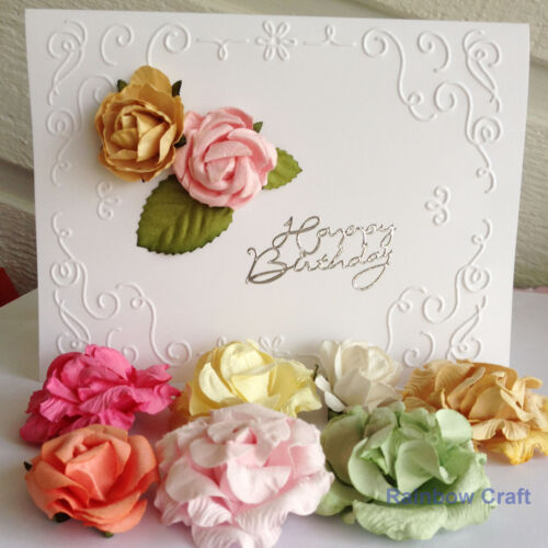 bloom /& paper leaves 23 designs Mixed Sizes Kaisercraft paper flowers
