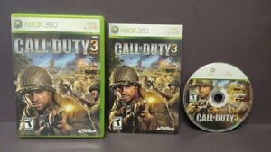 Call-of-Duty-3-COD-3-Microsoft-Xbox-360-Complete-1-Owner-Mint-Disc-Original