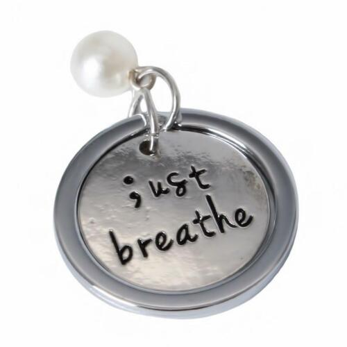 Semi Colon Just Breathe Silver Necklace Keychain Gift Mental Health Awareness T