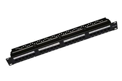 Leale Patch Panel 24 Porte Cat5e Per Rack 19'' Cat5 Rj45 Utp 8 Categoria Link Lkp5e24u Evidente Effetto
