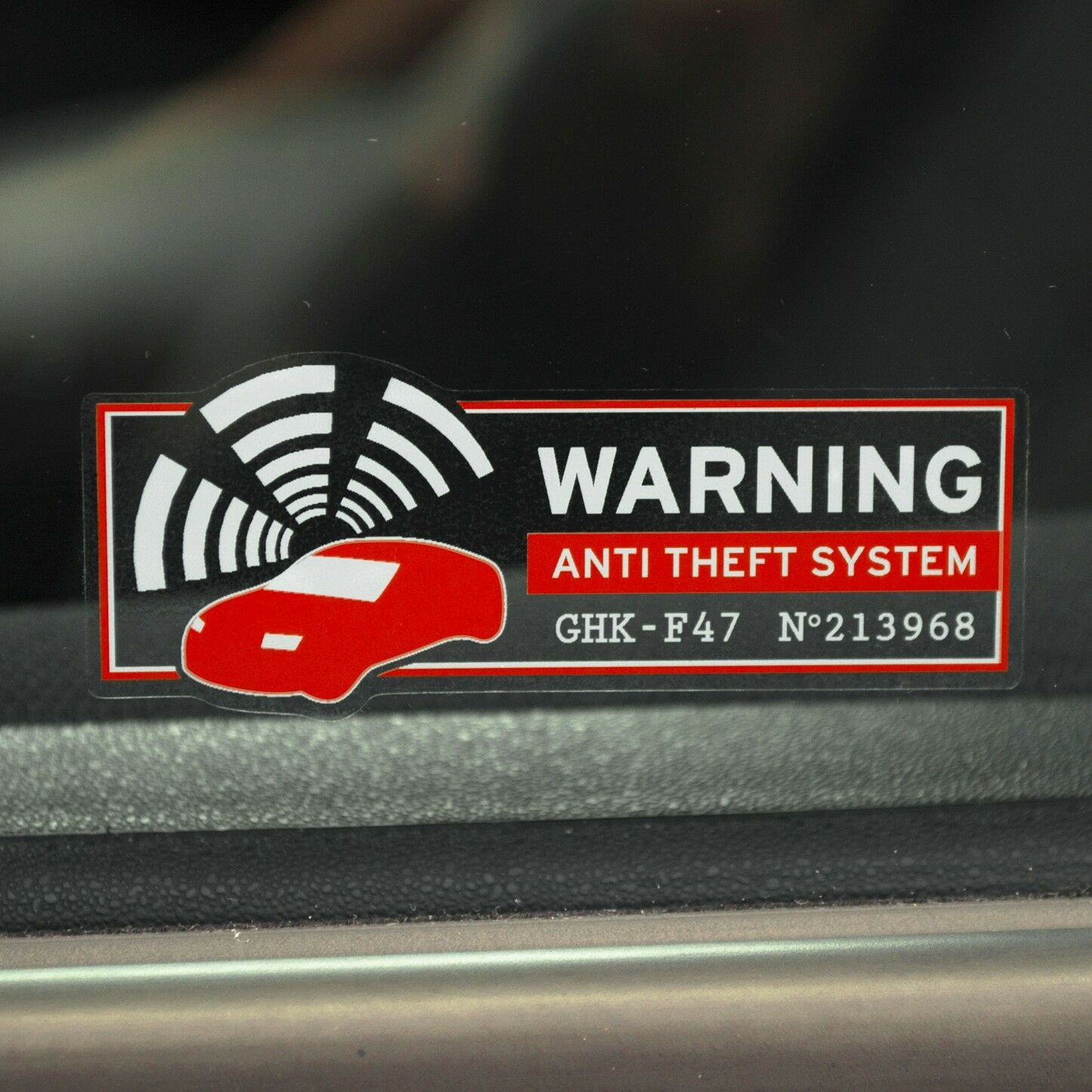 Car alarm sticker security warning car alarm sticker car alarm sticker home
