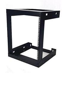 12U-Wall-Mount-Open-Frame-19-039-039-Server-Equipment-Rack-Threaded-18-inch-depth