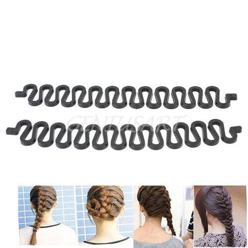 2 Pcs Women Magic French Hair Roller Braiding Tool Braider Styling Bun Maker