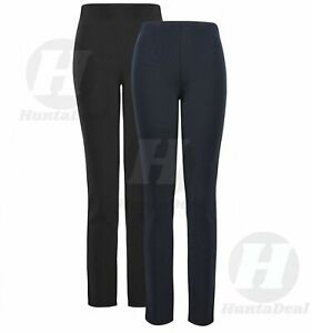 2-x-WOMENS-MATERNITY-STRAIGHT-LEG-LADIES-STRETCH-PREGNANCY-WORK-TROUSERS