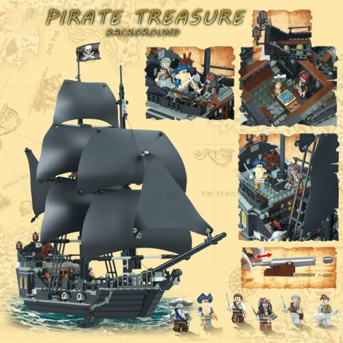 Details about  /For LE GO The BLACK PEARL 4184 Pirates of the Caribbean 6 rare minifigures New