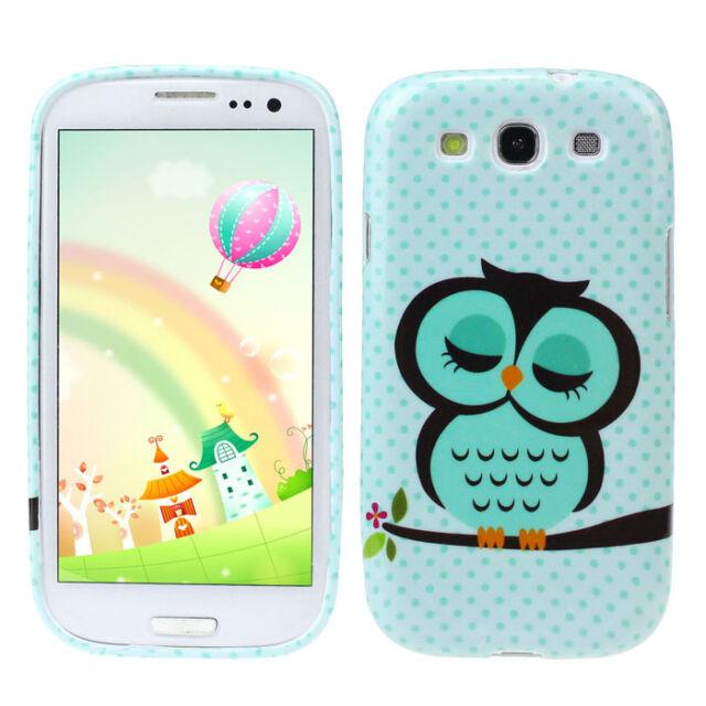 Cute Owl Design Soft TPU Case Cover for Samsung Galaxy S3 III i9300
