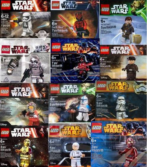 LEGO STAR WARS - MINIFIGURES POLYBAGS  NUEVO   NEW