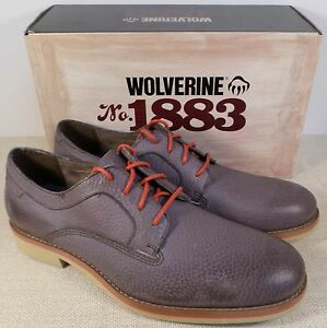 c9bcfd99963 Details about WOLVERINE W00098 THEO MEN'S GREY OXFORDS Heritage 1883 NEW IN  BOX