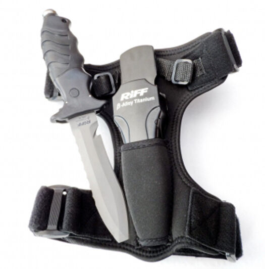 RIFF - - - Beta-Titan Tauchermesser - 125 mm Klinge - mit Holster 7027e7